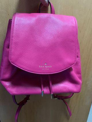 Kate Spade pink leather backpack