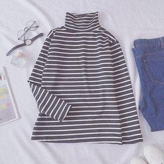 Ulzzang Top Long Sleeve Stripes T-shirt