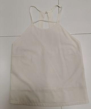 Sleeveless offf white/ beige top