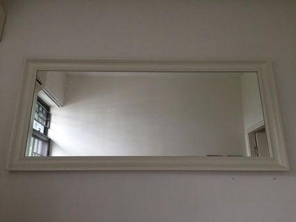 Classic White Framed Mirror (wood)