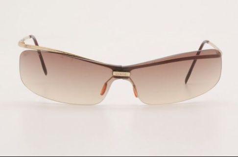 Chanel Sunglasses Gold Frame Rimless Gradient 4043