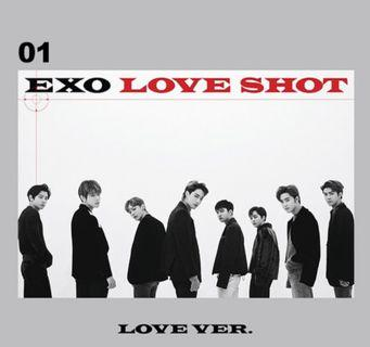 🚚 [ WTS ] EXO LOVE SHOT POSTER ( LOVE VER 01 )