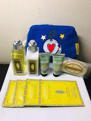 L'OCCITANE. LOCCITANE. loccitane. l'occitane. VerVeine Set. Great Value Set includes Limited Edition Cosmetic Pouch. AUTHENTIC.