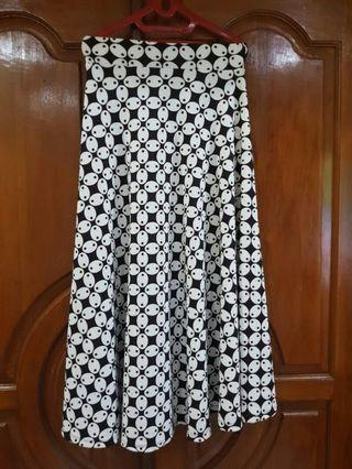 Batik Flare Long Skirt