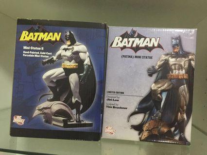 Batman Jim Lee Hush Statue Patina Version & Mini Statue 2 black version