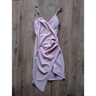 XS Pale Pink Wrap Dress