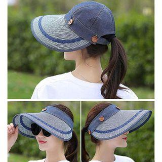 🚚 Women's Reversible 2-in-1 Wide Brim Floppy Hat UV Protection Hats for Beach Golf