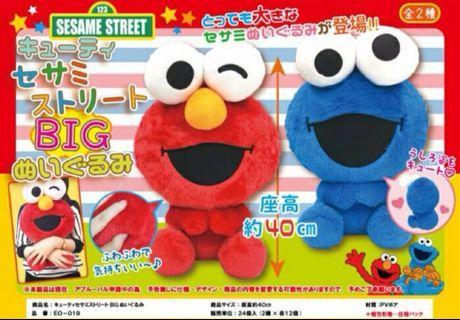 芝麻街公仔。cookie monster。日本全新