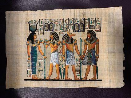 Egyptian painting on a special paper