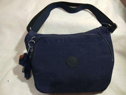 🚚 Kipling 復古歐風墨水藍雙層側背包