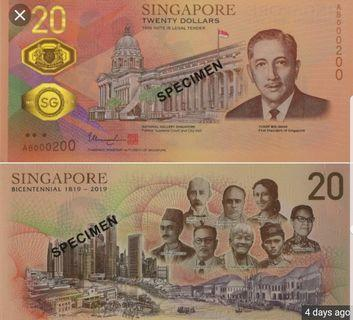 SG Bicentennial Commemorative Notes