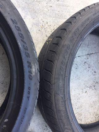 255 35 19 Pirelli p zero run flat made in Germany use tyre X2