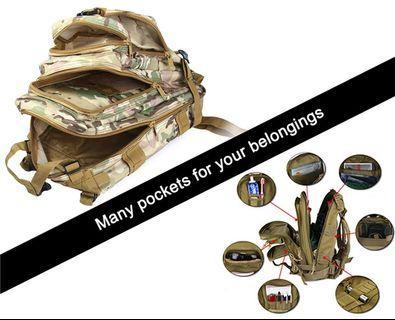 3P PUBG ATTACK TACTICAL BACKPACK 30L BAG