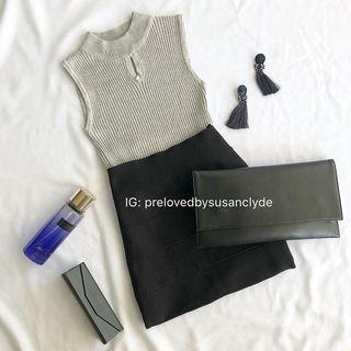 Grey Knitted Sleeveless Top
