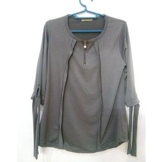 Grey shirt fit M-L