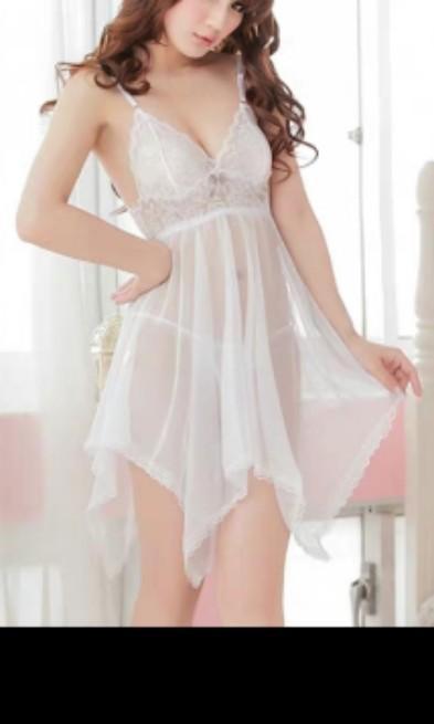 現貨只餘白和紫,色如圖~lace Lingerie Womens 性感簡約情趣睡衣(送小褲仔,魚網大脾襪 ),凸顯線條,柔軟質感,舒適一流