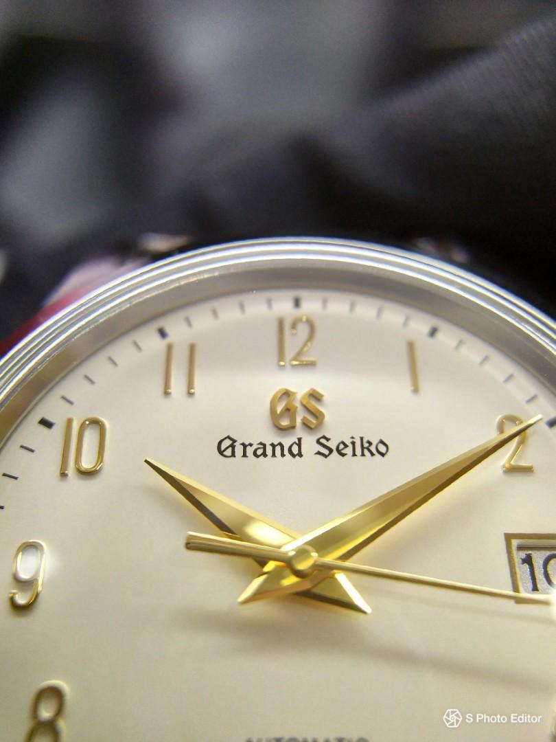 * FREE DELIVERY * Brand New 100% Authentic Grand Seiko Boutique Edition Silk Cream Dial Shironeri Inspired Men's Automatic Dress Watch with Genuine Alligator Strap SBGH263