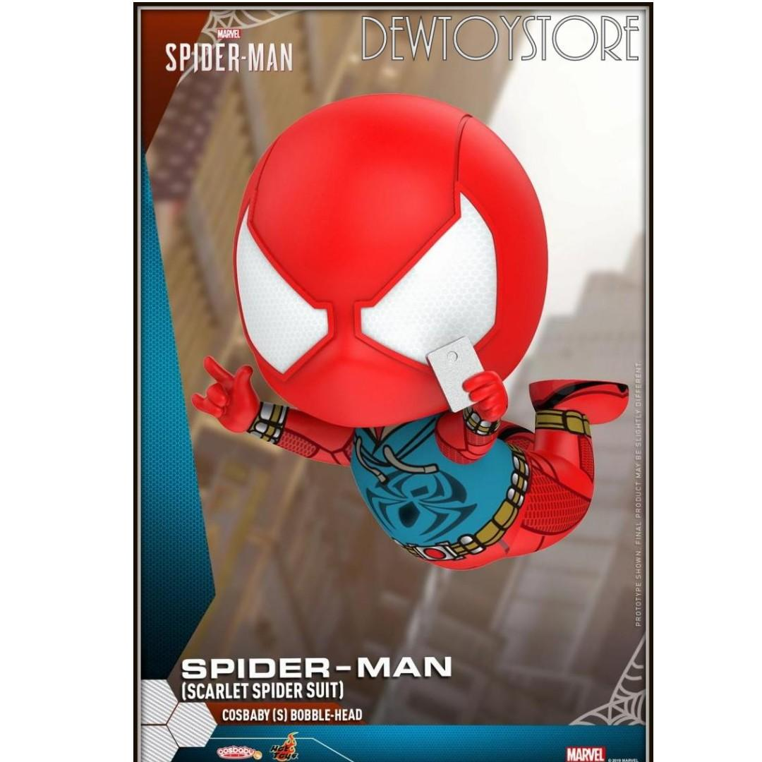 Hot Toys COSB620 Marvel Spider Man Scarlet Spider Suit COSBABY Bobble Head