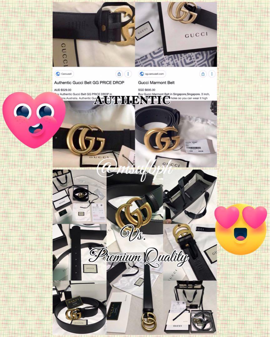e9bc56f11 AUTHENTIC VS. PREMIUM (Pre-Order GG Belt) on Carousell