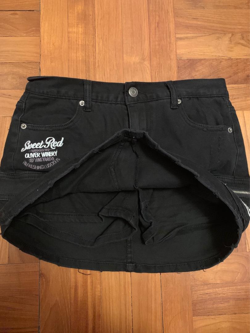 black denim skirt (skort)