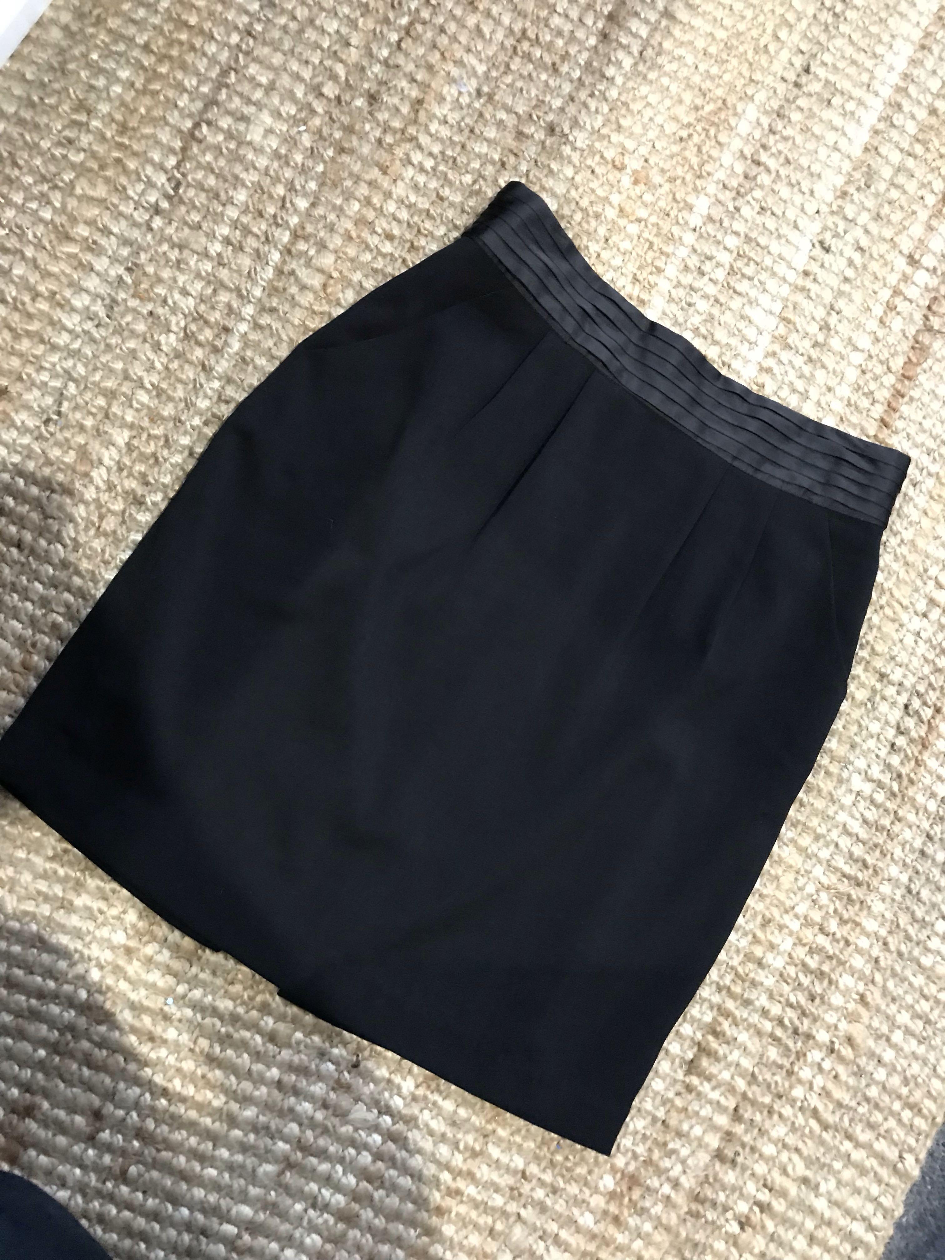 Black smart casual corporate work high waisted skirt