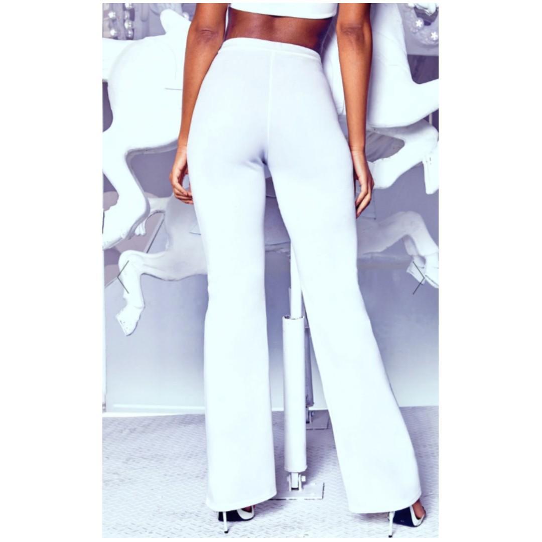 BNWT White high rise pants