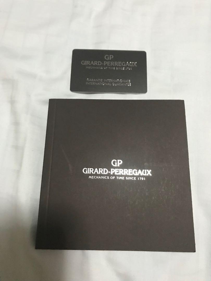 Brand New - Girard Perregaux User Manual and Papers (warranty card)- undated, unnamed #MRTHougang #MRTSerangoon #MRTSengkang #MRTPunggol #MRTRaffles  #MRTBedok #MRTTampines #MRTCCK #MRTJurongEast #MRTYishun