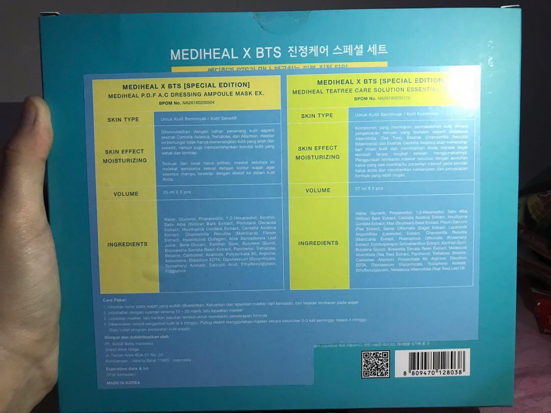 BTS Mediheal Mask dapet photocard