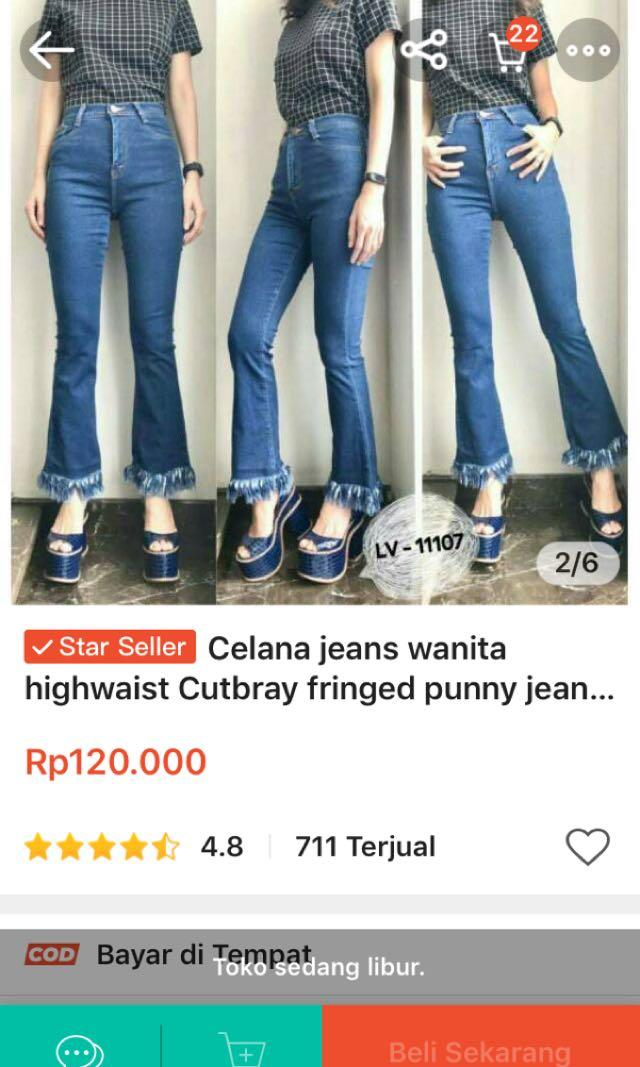 Celana Jeans Wanita Cutbray Uk30