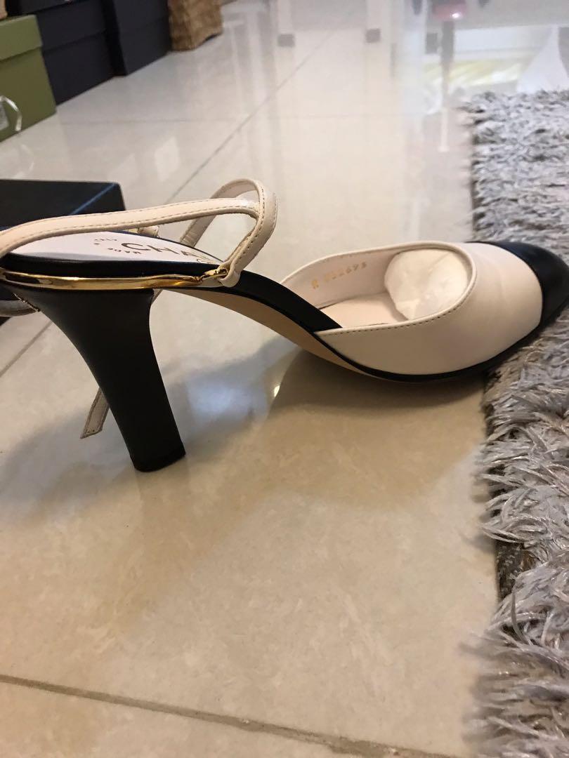 "Chanel shoes 3"" heels slingback"