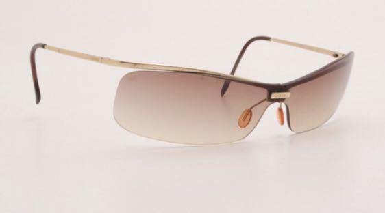 Chanel Sunglasses Gold Frame Rimless Gradient 4043