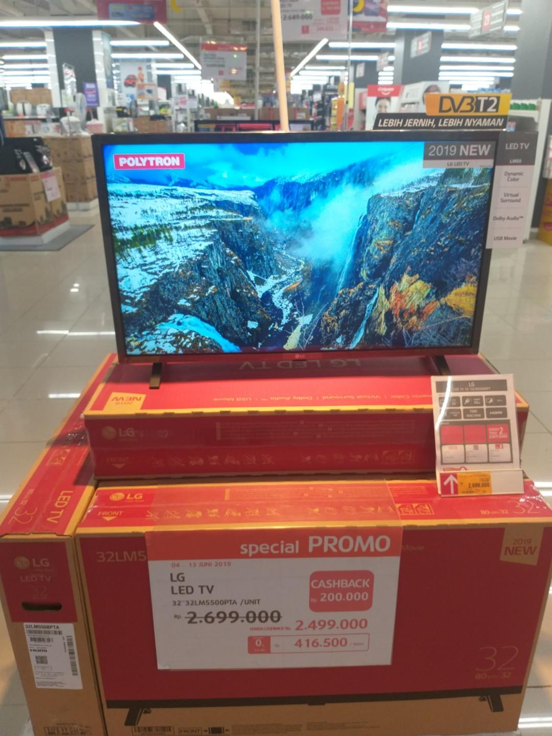 Cuma Bayar DP 450,000 LG LED TV 32 Inch