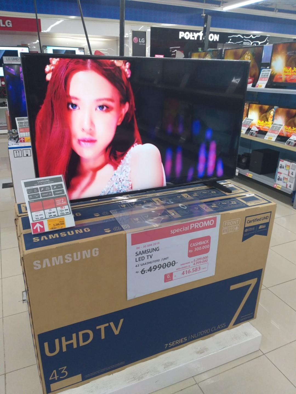 Cuma Bayar DP 700,000 SAMSUNG LED SMART TV 43 INCH
