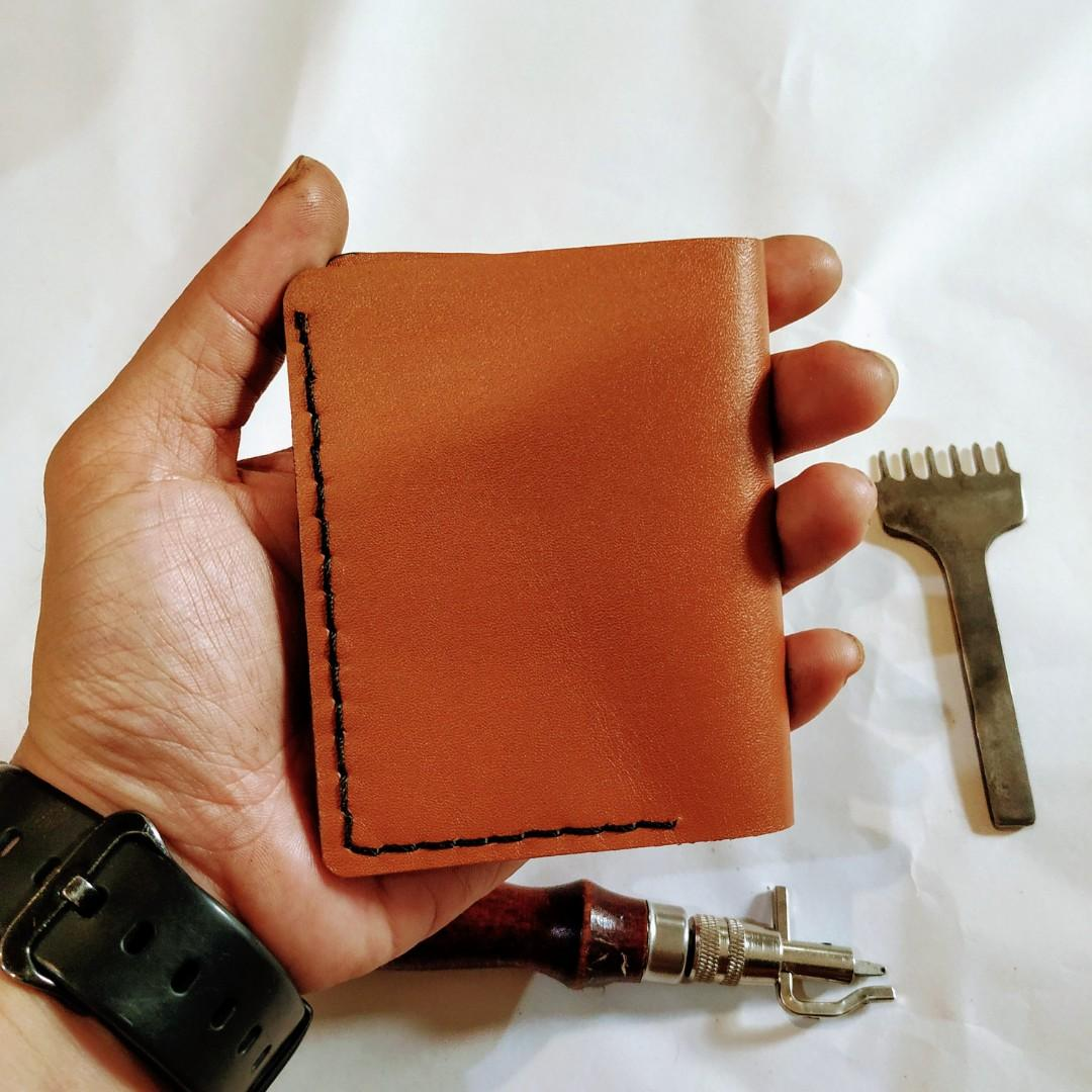 Dompet Kulit Sapi Handmade Bifold Small