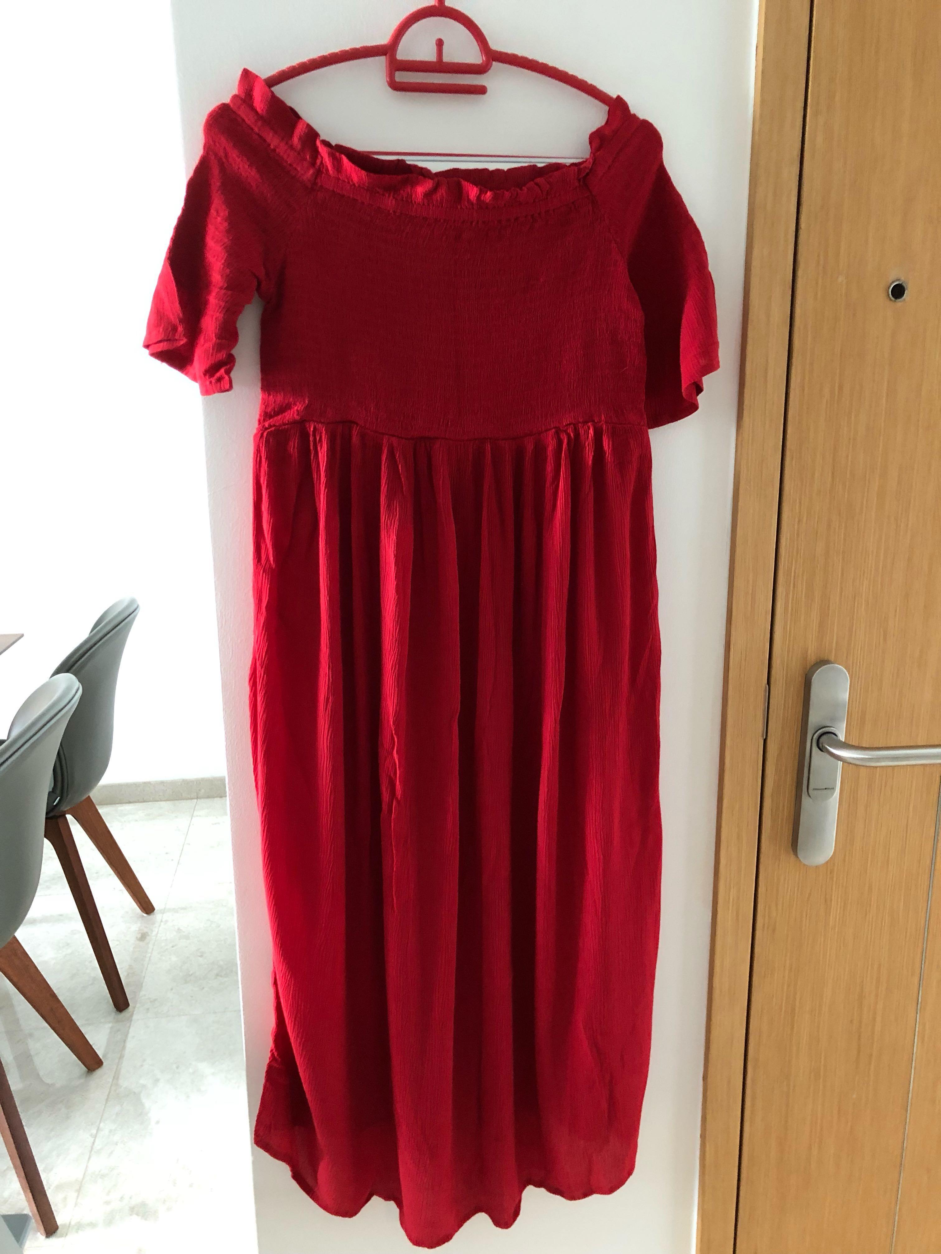 Dorothy Perkins Maternity Red Off Shoulder Dress