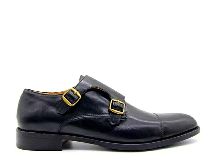 Duncan Double Monk Strap black