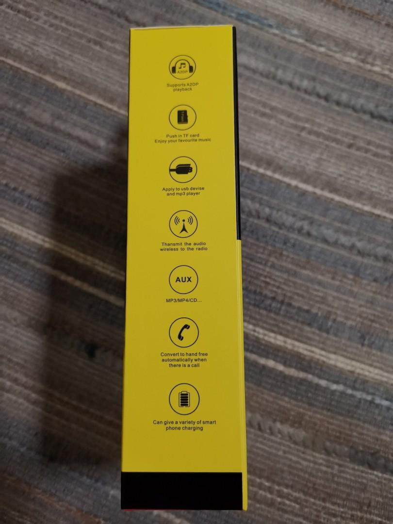 Earldom Bluetooth MP3 Player USB Car Charger 2 USB Brand New