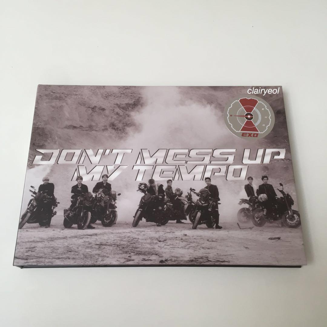 fullset+ poster exo album don't mess up my tempo adante ver. kai pc & baekhyun postcard dmumt
