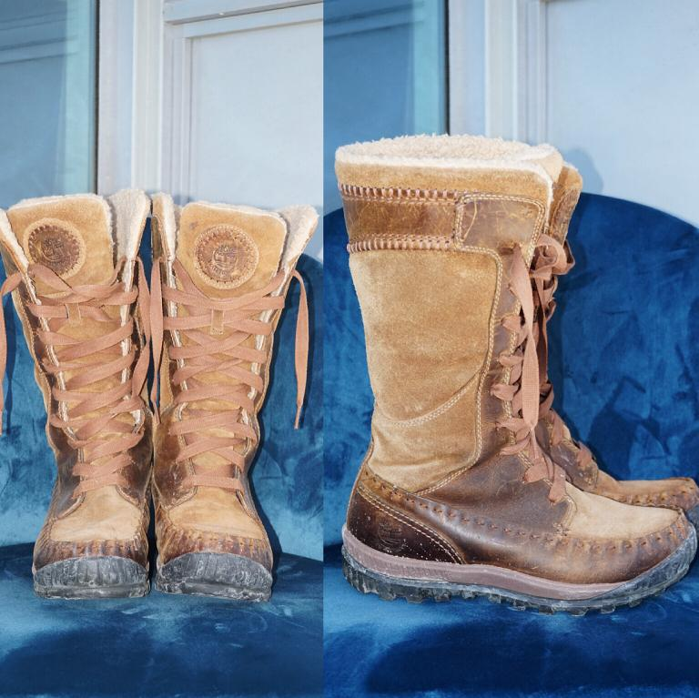 *Great Condition* Timberland Genuine Leather Waterproof Winter Boots (fits 7 - 7.5)