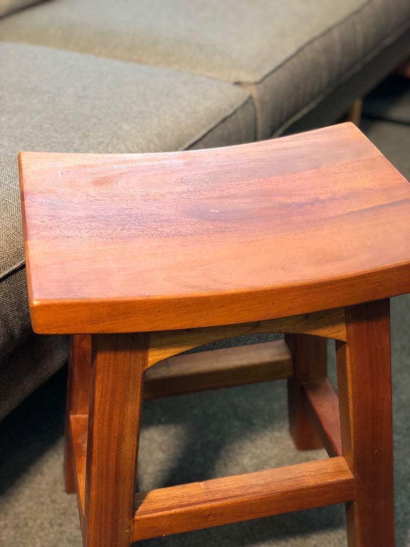 GREAT GSS FIRESALE Solid Teak Wood Stool 48,67,77cm
