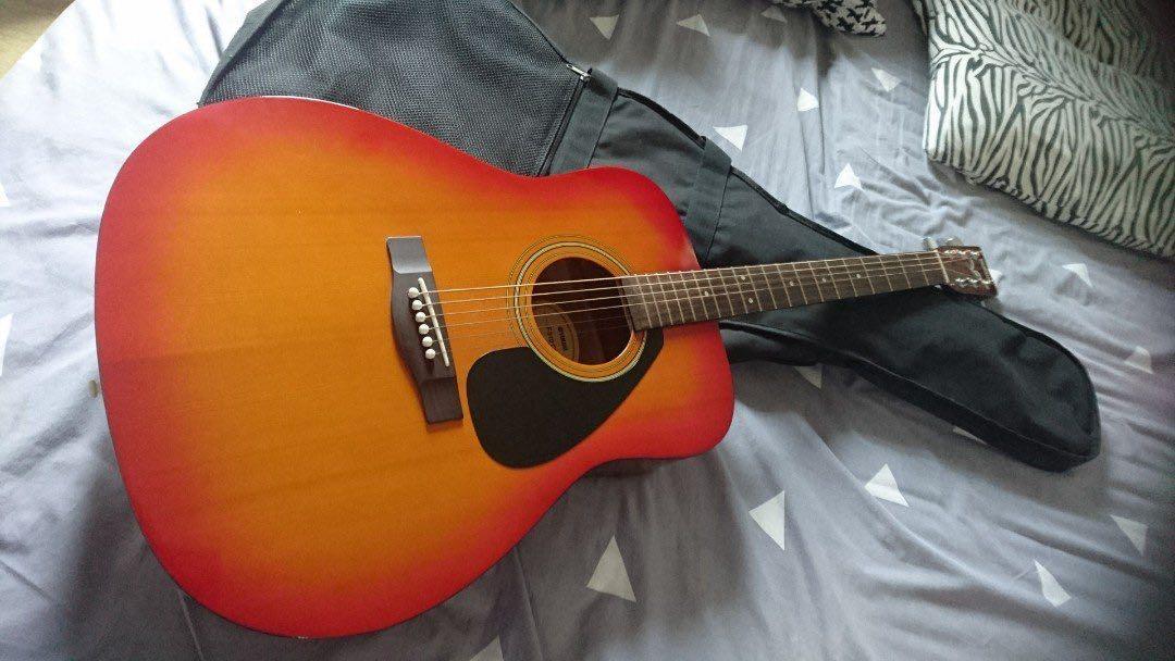 Guitar with bag