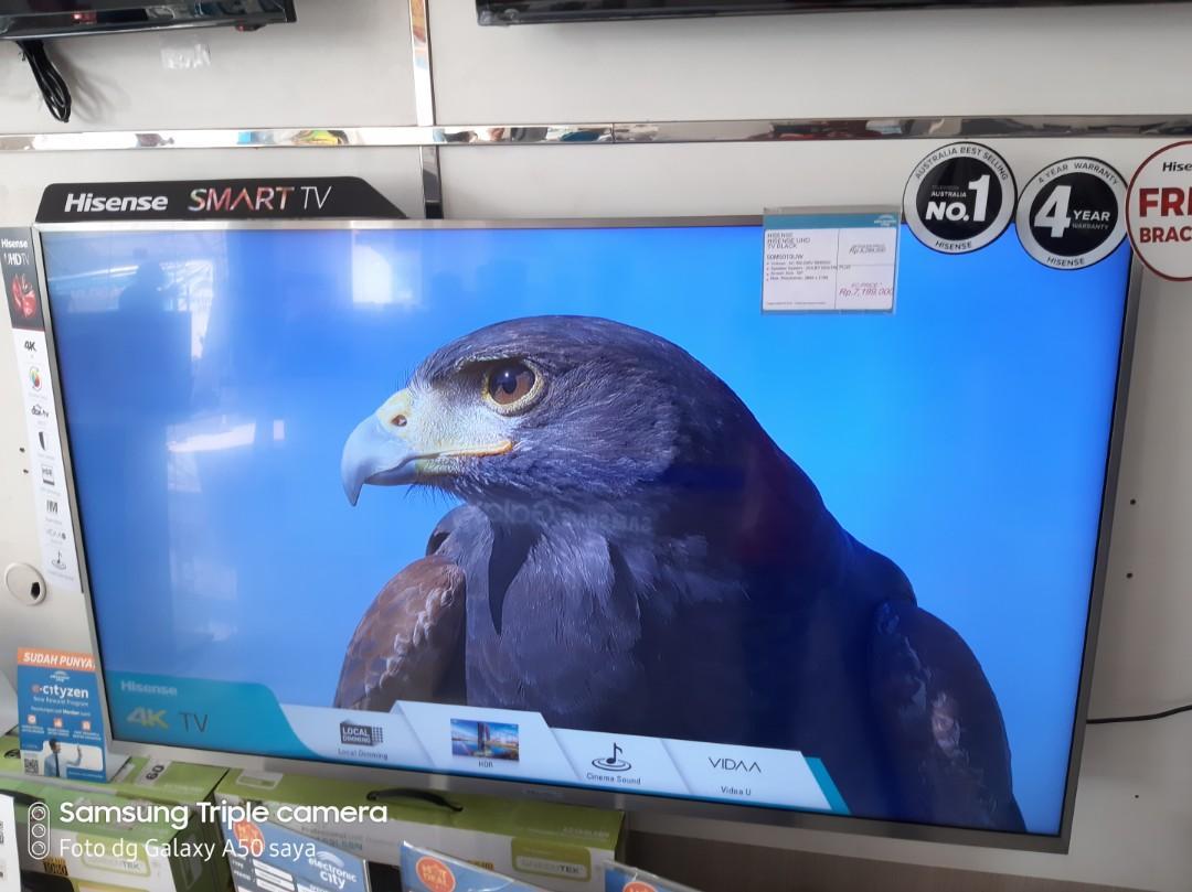 """Hisense Smart Tv 50"""" Cicilan 0% Tanpa Kartu kredit Free 2Kali Angsuran"""