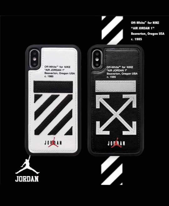 detailed look b043b 3e669 IPhone XS Max OFF WHITE Jordan Leather Luxury Case