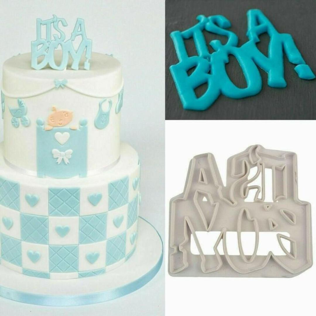Incredible Its A Boy Fondant Cutter For Baby Boy Shower Or Birthday Cake Funny Birthday Cards Online Hendilapandamsfinfo