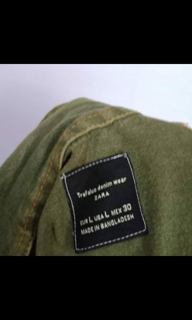 Jaket Jeans Army Zara Unisex Jacket Parka Outer Kemeja Baju