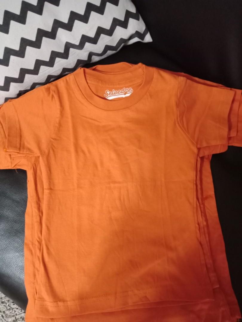 Kaos anak Orange size xs s m l xl