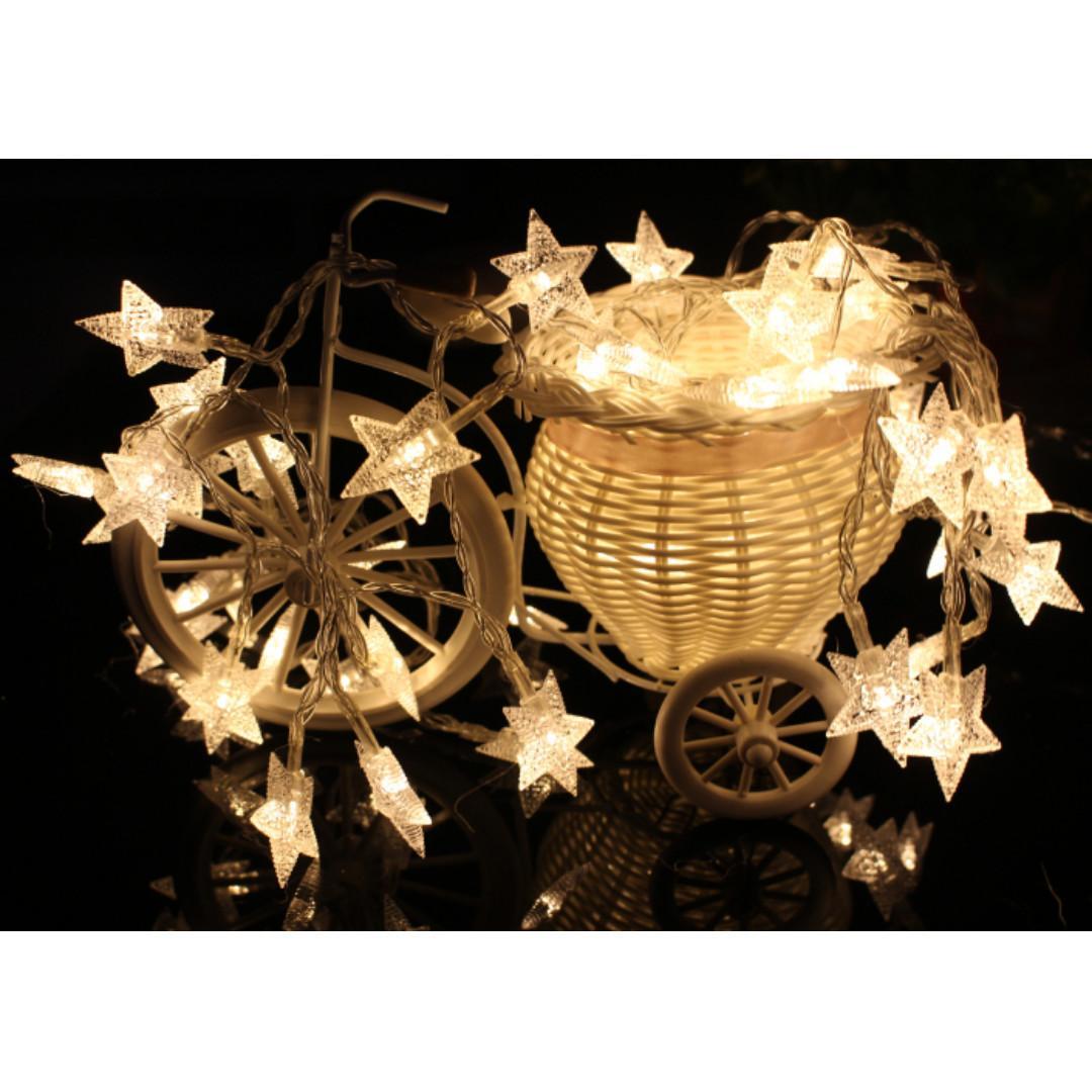 【全新】led滿天星星燈/彩燈閃燈串燈/少女心/房間佈置/網紅燈+插頭開關延長線3米