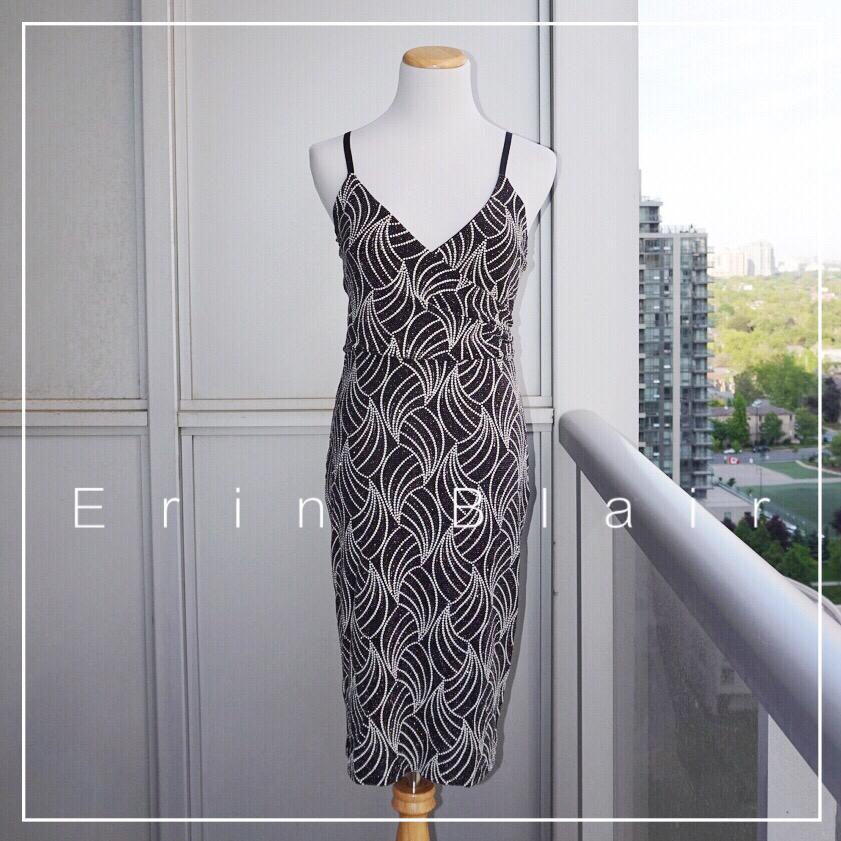 *Like New* Erin Blair Faux Wrap Dress Women Size S