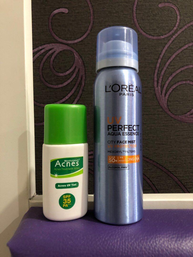L'oreal UV Perfect Spray SPF 50 + Acnes SPF 35 #MAUTHR