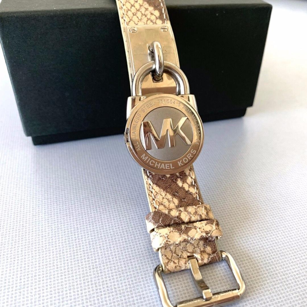 MICHAEL KORS Stainless Steel Women's Embossed Leather Lock Shape Watch MK-2190